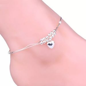 Double Chain Heart Shaped Anklet